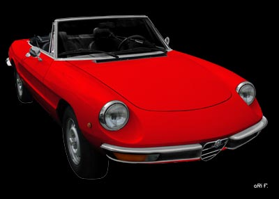Alfa Romeo Spider Poster