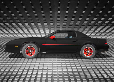 Chevrolet Camaro in black (side view)
