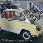 Zündapp Janus 250 auf dem Messestand in Friedrichshafen