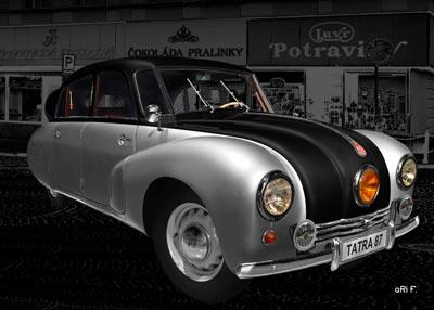 Tatra 87 in black & silver (Originalfarbe) 2