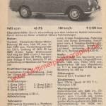 VW 1500 Datenblatt - VW Werbung von 1963