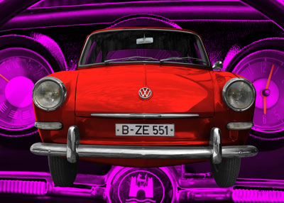 VW 1500 Typ 3 in red & pink