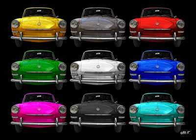 VW 1500 Typ 3 in all colors