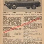 VW Variant S technische Daten von 1963