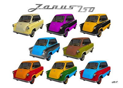 Zündapp Janus 250 Poster in Multi Color