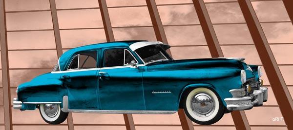 1952 Chrysler Imperial Poster in light blue