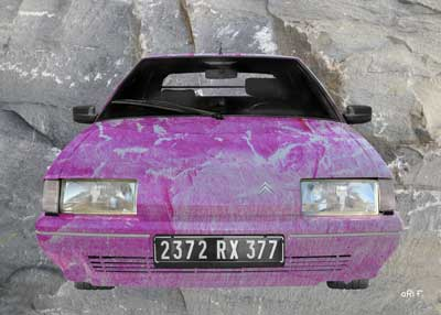 Citroen BX stone washed in pink