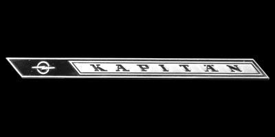 Logo Opel Kapitän A auf C-Säule