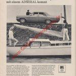 Opel Admiral - Reklame Werbeanzeige Original-Werbung in Auto Motor und Sport 25/1967