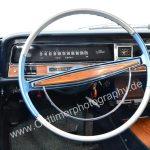 Opel Diplomat A Armaturen und 2-farbigen Lenkrad in blau und silber