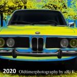 Oldtimerkalender 2020 Titelblatt BMW 3.0 Typ E9