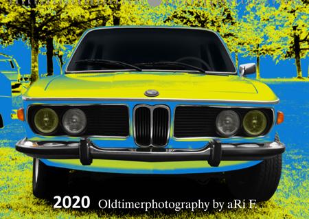Oldtimerkalender Titelblatt BMW 3.0 Typ E9