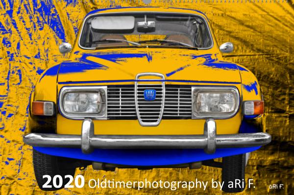 Saab 96 Titelblatt Oldtimerkalender 2020