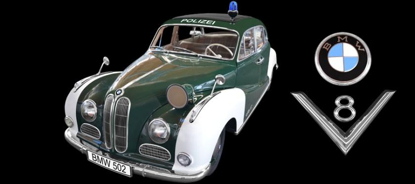BMW 502 V8 Polizeiwagen Poster