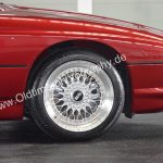 BMW 850i Detailansicht auf Original Alu BBS-Felgen