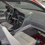 BMW 850i Interieur alles mit grauem Nappaleder ausgekleidet