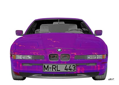 BMW 8er in pink & white