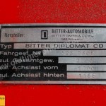 Bitter Diplomat CD Typenschild