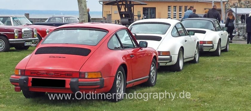 Porsche 911 G-Modelle bei einem Oldtimertreffen