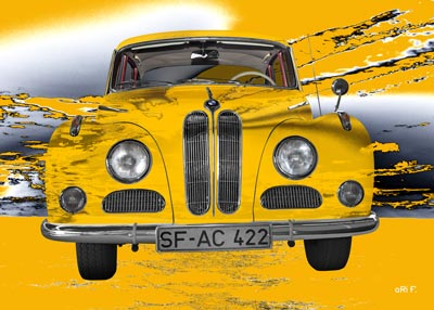 BMW 502 in yellow new created by aRi F.