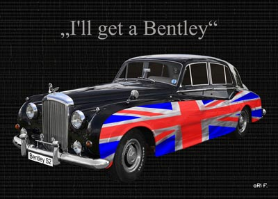 Bentley S2 with Union Jack