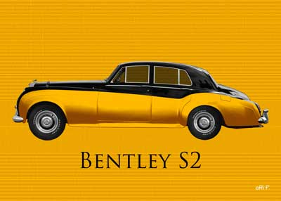 Bentley S2 in black-gold duotone