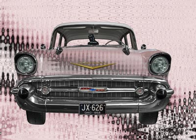 Think Pink in your Chevrolet Bel Air 1957