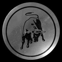 Logo Lamborghini auf Radkappe