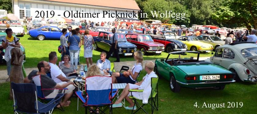 2019 - Oldtimer Picknick im Hofgarten von Schloss Wolfegg