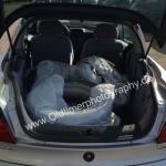 Opel Tigra Kofferraum und mit umklappbaren Rücksitzen haben sogar 4 Ersatzräder genügend Platz