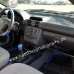 Opel Tigra Interieur Exportversion Schweiz mit blauen Lederapplikationen
