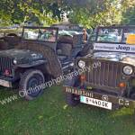 Vorarlberger Jeep Oldie Club mit ca. 10 Willys MB in Obereisenbach