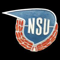 Logo NSU Supermax auf Benzintank