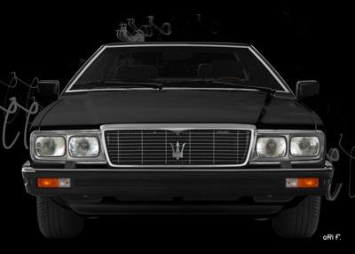 Maserati Quattroporte III front view Poster in black
