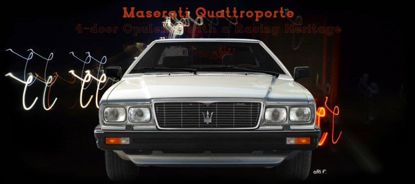 Maserati Quattroporte Serie III Poster by aRI F.