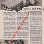 Mercedes Benz 190 SL Bericht - Mercedes Benz Werbung von 1957 Seite 330