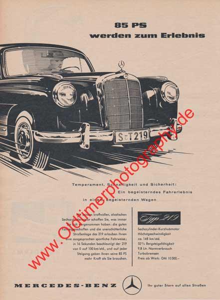 Mercedes-Benz 219 Werbung von 1956