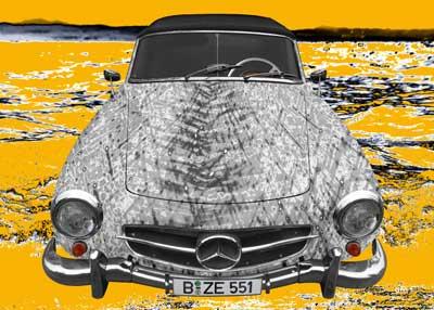 Poster Mercedes-Benz 190 SL Art Car GRAAY