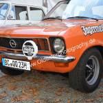 Opel Ascona A mit Jägermeister-Werbung in Meßkirch