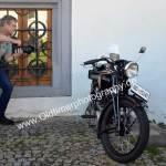 Wenn Kollegen bei Oldtimertreffen alte Motorräder fotografieren