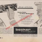 Becker Auto-Radio ADAC Motorwelt Mai 1956