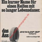 Dunlop Reifen SP Stahlgürtel in ams Heft 11, 25. Mai 1974