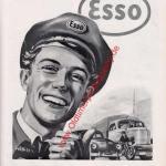 ESSO Werbung Reklame von 1953