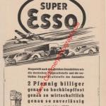 ESSO Werbung Neuartiger Hochleistungs-Kraftstoff von 1939