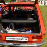 Fiat 127 Hecktür mit Gasdruckfeder, Rücksitzbank umklappbar von 365 Liter auf 1000 Liter Kofferraumvolumen