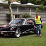 Schwarzer Ford Mustang beim Oldtimertreffen in Kressbronn