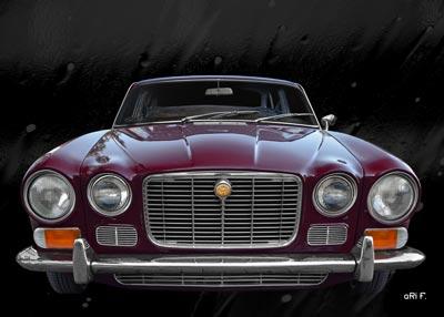 Jaguar XJ Serie 1 Frontansicht Poster