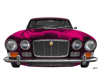Jaguar XJ6 front view Poster