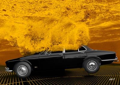 Jaguar XJ Serie 1 go to diving Poster 2 by aRi F.