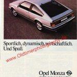 Opel Monza Werbung Sportlich, dynamisch, wirtschaftlich in DER SPIEGEL 6/1982